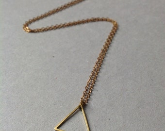 Brass Triangle Necklace