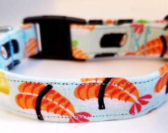 Sushi Cat Collar. Safety Release Buckle. Comes with Sushi Charm and bell. Matching Bandana SOLD SEPARATELY Supplies, Cat accessories