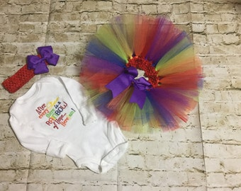 Rainbow baby tutu outfit for newborns, kids, any age, rainbow tutu