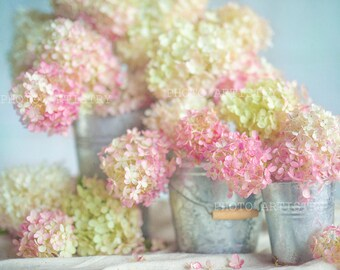 Lovely Hydrangea Print, Rustic Wall Art,  Pink, Shabby Chic Decor, Hydrangea Wall Art, Pink Hydrangeas Flowers,Floral Wall Art Prints