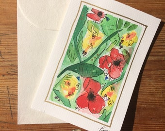 Greetings Card - Poppy Field - Original Artwork