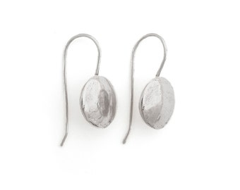 Sterling Earrings - Artisan Earrings - Silver Ranch Earrings - Oxidized Silver Earrings - Full Moon Earrings (ES-MN)