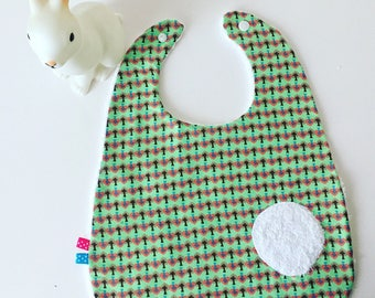 Cotton fabric and Terry baby bib