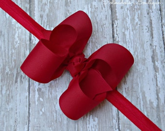 Boutique Red Headband Red Big Bow Headband Red Baby Headband Red Toddler Headband Large Bow Headband New Baby Gift