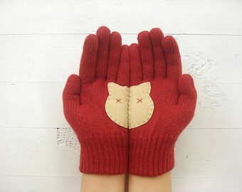Gift For Mother, Cat Gloves, Cat Lover Gift, Express Gift, Gift For Her, Cat Lover Gloves, Pet Lover Gift, Pet Gift, Cat Gift, Women Gloves