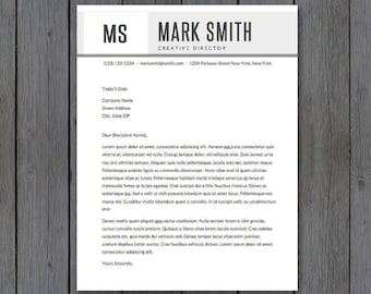 """Cover Letter Template - 8.5x11""""  - Cover Letter Template, Word - MS Word *INSTANT DOWNLOAD*"""