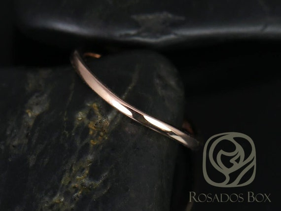 Rosados Box 14kt Rose Gold Matching Band to Khaleesi 7.5mm PLAIN Band