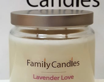 Family Candles - Lavender Love 16oz Double Wicked Soy Candle