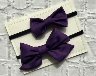 Purple Baby Bows