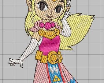 Zelda Machine Embroidery Design - Princess Zelda 4x4