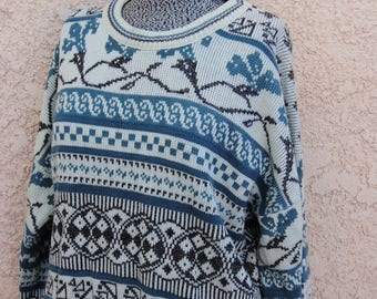 Vintage 1980's Cozy Ski Lodge Sweater