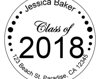 graduation stickers, personalized graduation stickers, high school or college stickers, class of 2018 stickers