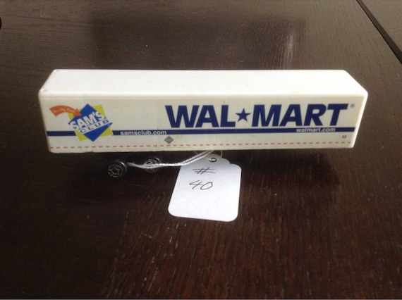 Trailer de caja de Walmart Club de Sam. Escala 1/64