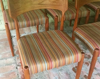 Mid Century Teak Dining Chairs