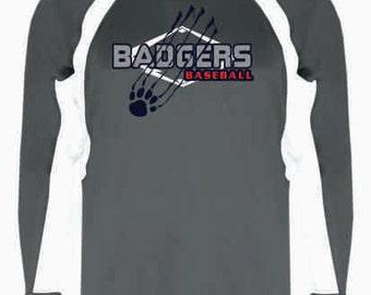 Badgers Baseball Hook Long Sleeve Tee - 4154