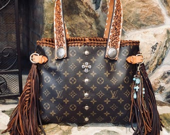 Authentic Louis Vuitton Horizontal Fringed Bag