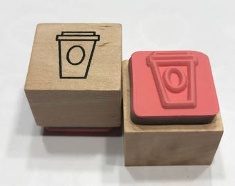 small Coffee Cup rubber stamp, 20 mm (BB4/2)
