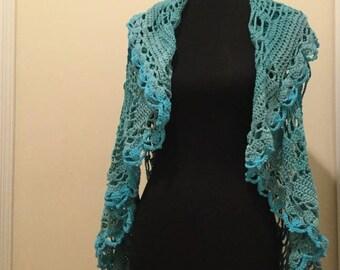 The Seaside Vest - crochet wrap - crochet vest -winter destination - beach coverup