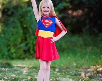 Girls Superhero Costume (supergirl, wonder woman, batgirl, robin, riddler)