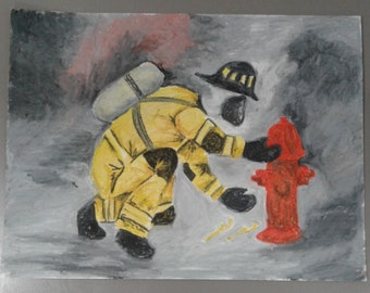 Hook the Hydrant Oil Pastel