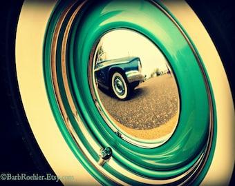 Vintage Wheel - Rustic Wall Art - Classic Car Art Prints - Retro Print - Vintage Car Photography - Garage Art - 8x10
