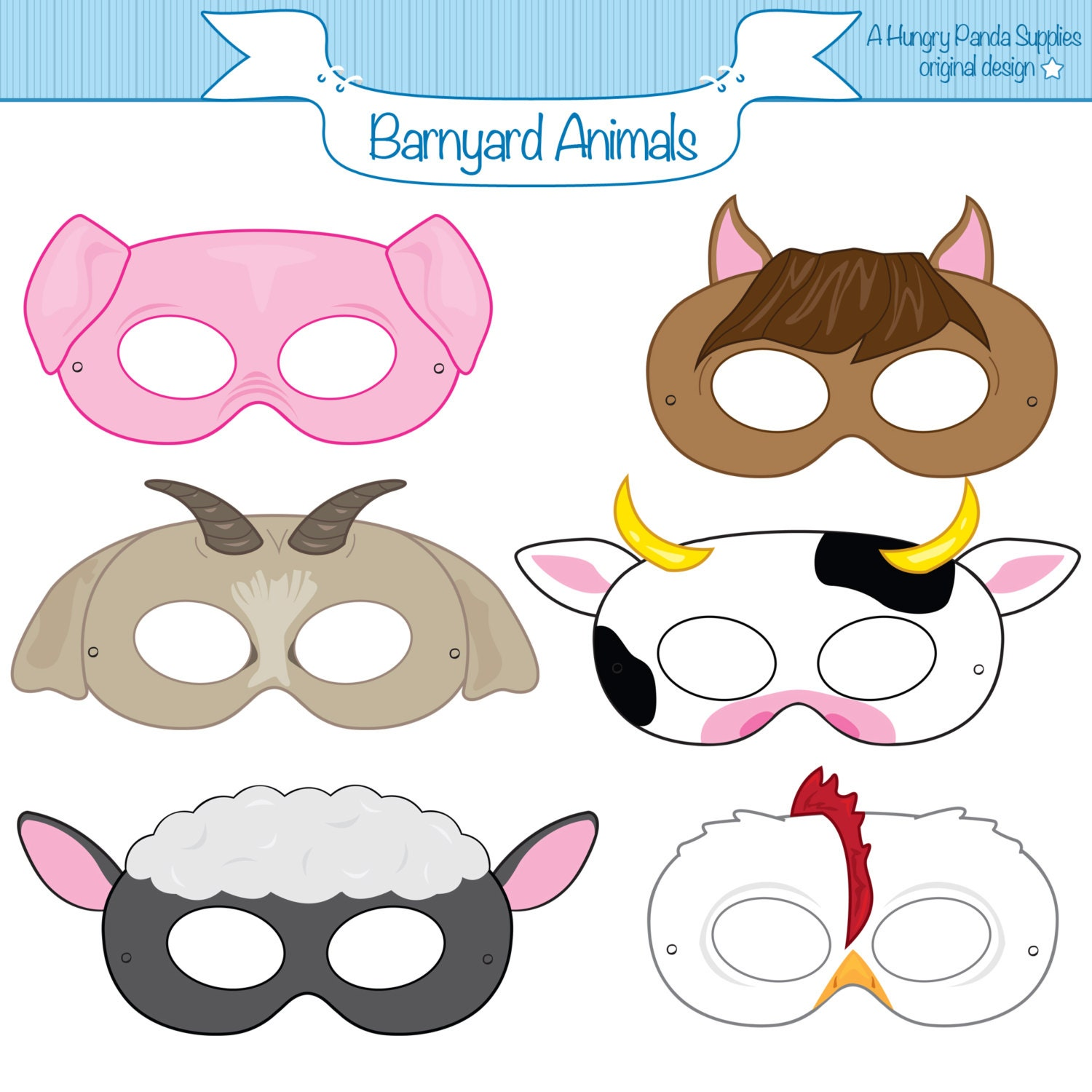 Resource image for animal masks printable