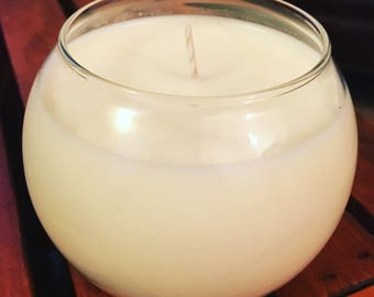 Spring Scented Soy Candle- white tea + ginger