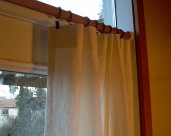 "100"" Natural Curtains, Curtain Panels, Wide Curtains, Linen Curtain, Cotton, 100"" Wide, Custom Length, Tranquility1"