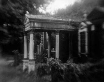 "Art Print ""House of the Dead II"" Wall Art Analog Photography Cemetery Photography Dark Art"