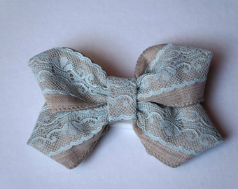 Vintage Collection Hair Bow & Jacket Flower