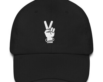 PEACE 3D Puff Cap Dad  hat embroidered baseball cap hat unisex 100% cotton Made in the USA