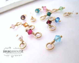 A La Carte . Add A Birthstone . Swarovski Crystal Birthstone with Gold Filled Findings