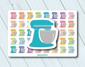 Stand Mixer Planner Stickers - Icon - Erin Condren Life Planner - Happy Planner - Kitchen Aid - Cooking - Cookies - Baking - Matte or Glossy