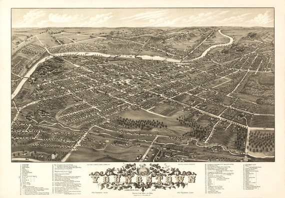 Vintage Map Youngstown Ohio 1882 on map of downtown youngstown ny, map of cleveland ohio, map of youngstown area, map of youngstown ohio streets, city of youngstown, map of ohio and pennsylvania, map of downtown youngstown ohio, map of youngstown oh, map of cleveland suburbs,