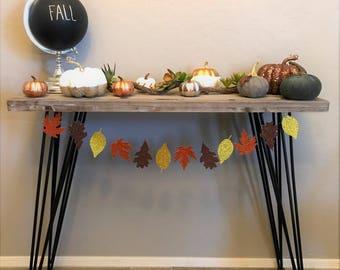 Fall Leaves Glitter Banner- Fall & Autumn Decor, Thanksgiving, Fall Festival, Holiday Decor, Harvest Festival, Home Decor