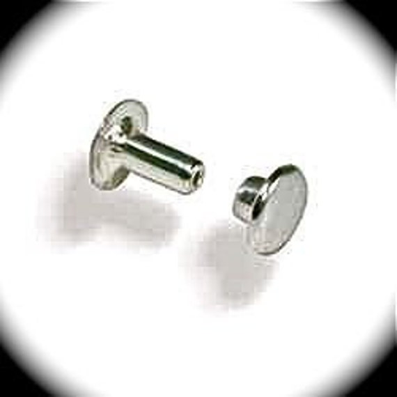 100 Mini Double Cap Rivets Rapid Rivets - Nickel