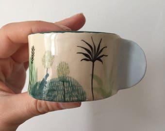 Cup Blue ceramic S