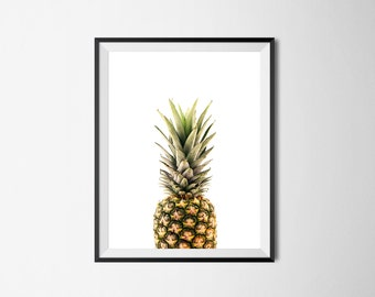 Pineapple Print / Instant Digital Download / Printable Art / Kitchen Print / Modern Decor / Nursery Decor / Tropical Print / Fruit Print