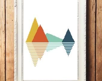 Mountains I Cross Stitch Pattern (Digital Download)