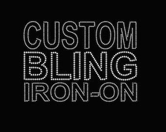 Custom Rhinestone Transfer Design Setup ; Deposit for custom applique, custom bling, custom logo, custom decal,  iron on patch