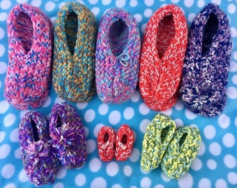 Colorful Knitted Slippers