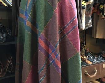 Vintage 80s Katies Wool Plaid Skirt Small