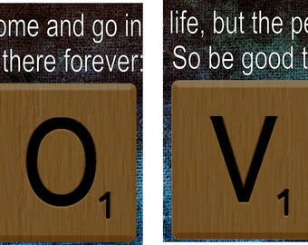 Signs and Quotes Love Scrabble