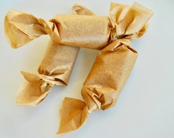 Goat Milk and Honey Chewy Caramel Candy, Old Fashioned, Small Batch, Handmade, Hand wrapped, Farm fresh, Organic Ingredients,Valentines Gift