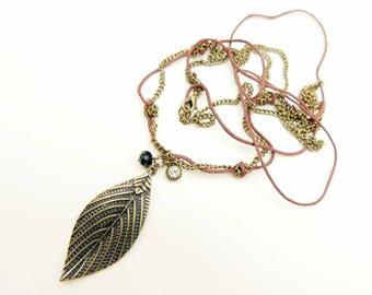 Leaf Necklace, Boho necklace, Boho jewelry