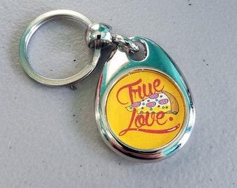 True Love Pizza Keychain