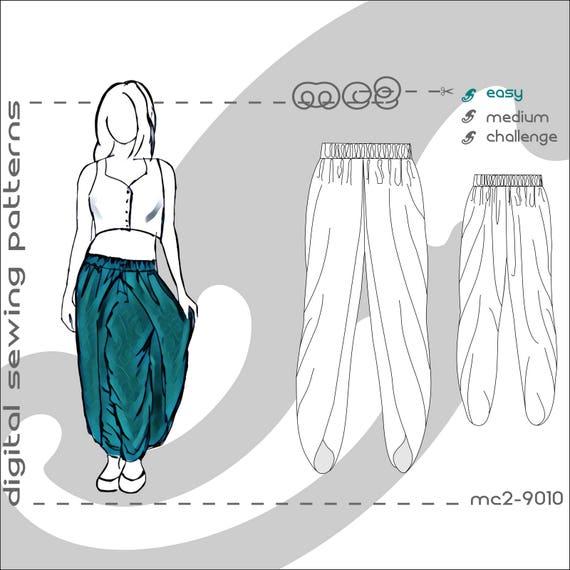 Tulip-shape Dhoti Harem Pants Salwar with Wraps sizes: