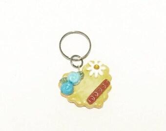 Picnic Themed Waffle Cookie Key Charm