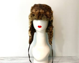 True Fur Hat Aviator Lynx