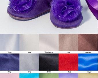 Purple Flower Girl Shoe, Satin Baby Ballet Slipper, Baby Shoe, Wedding Toddler Shoe, Fall Wedding Shoes, Dance Shoe, Baby Souls Baby Shoes
